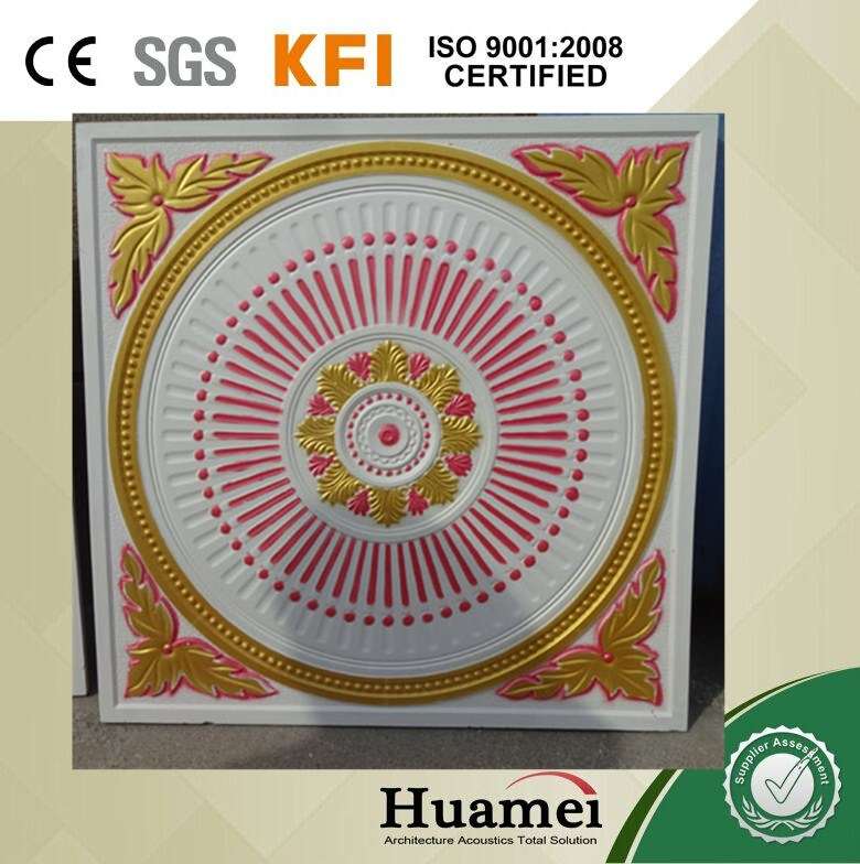 decorative colorful gypsum board false ceiling price CE/SGS/ISO certificated factory/plant sale