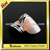 Hot Sale Flare French Fake Nails Nail Art Factory
