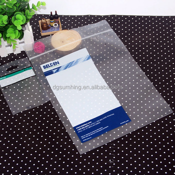 Custom printed LDPE plastic ziplock bag with heat-sealed and ''EZ'' perforated tear line