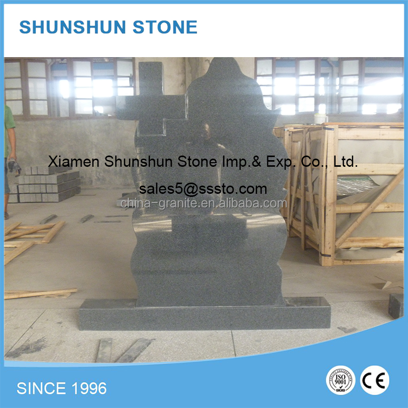 High Quality G654 Granite Romanian Headstone Pictures