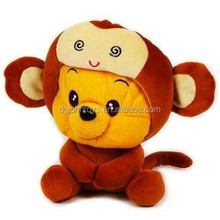 China toy Factory supply plush toy bear in monkey clothes