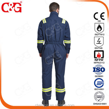 high visibility oil field safety flame retardant nomex coveralls