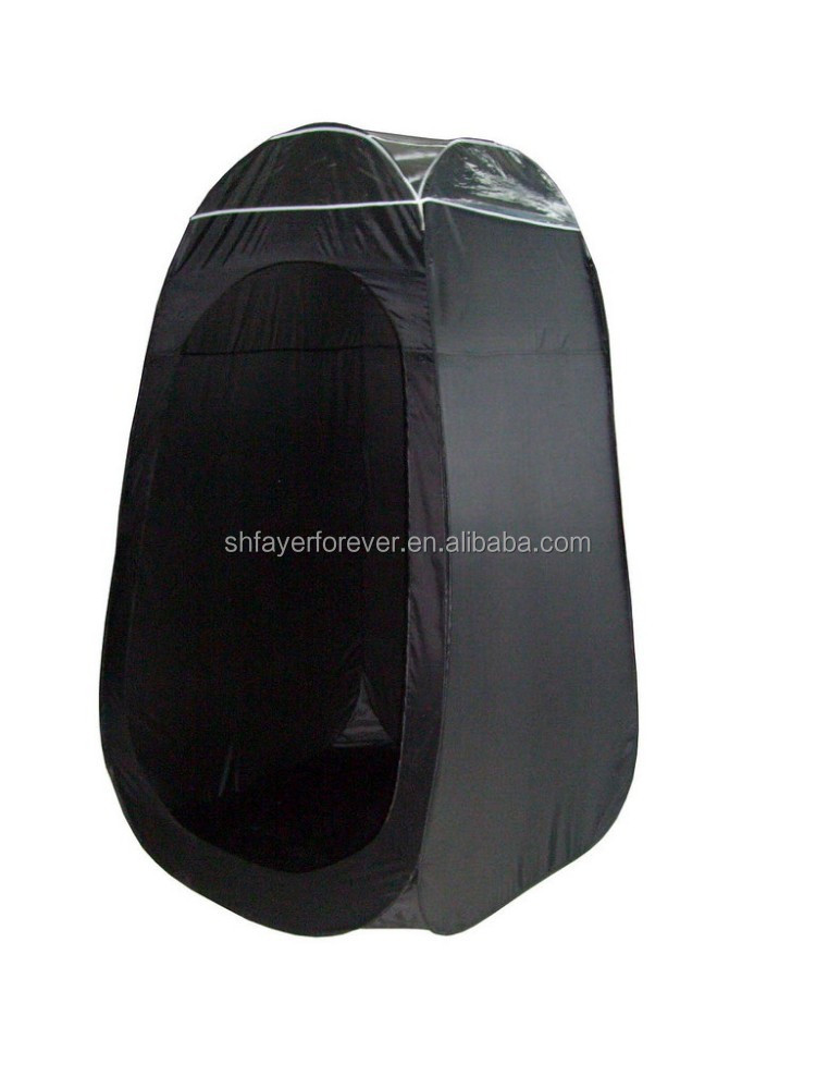 Cheap black pop up spray tanning tent bench shower tent