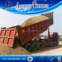 2015 new china manafacturer 20-50cbm tipper truck, 2 /3 axles side dump semi trailer