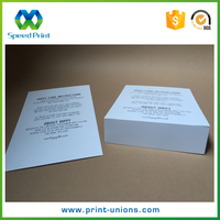Top quality instruction manual book folded card with instruction lettering