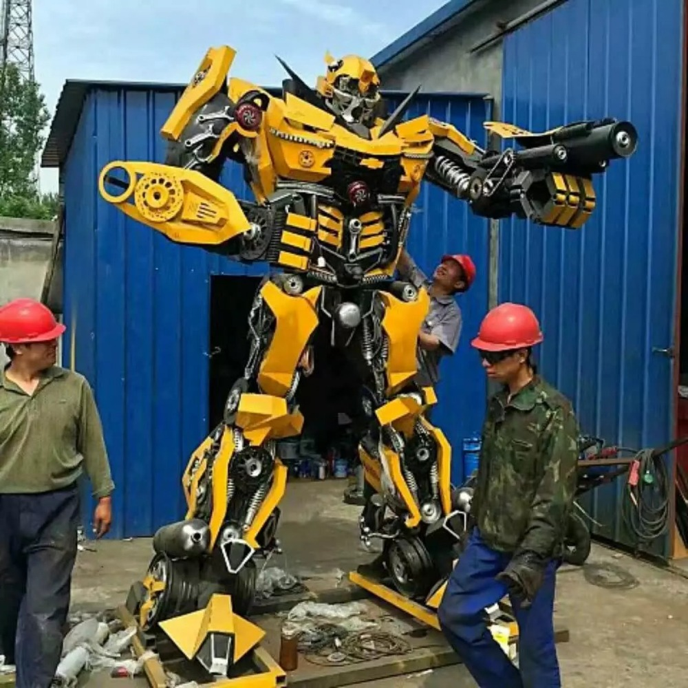 Modern pure hand made iron transformer robot decoration