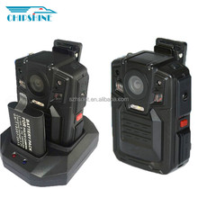 Portable built-in GPS encryption function 140degree police mini camera dvr