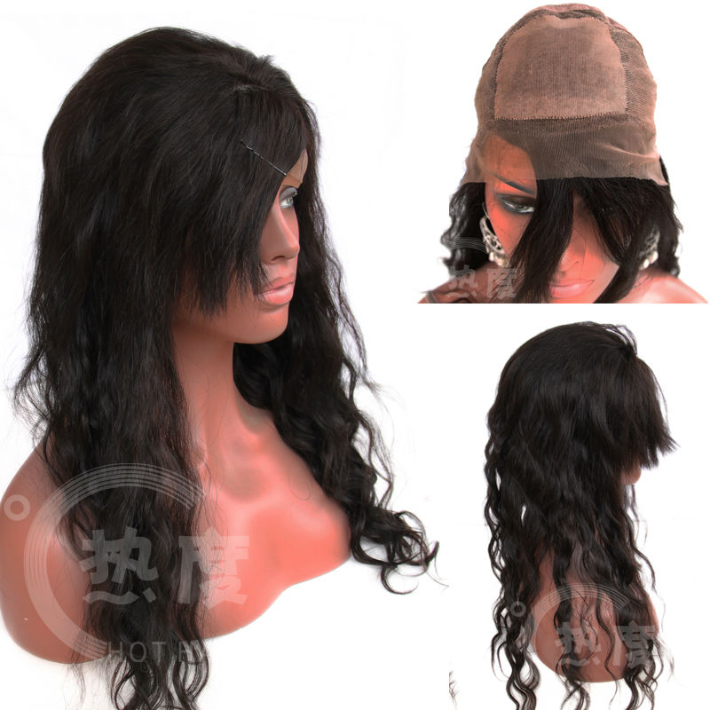 AAAA Top Quality Hot Hair Beauty Virgin Brazilian Hair Cheap Indian Remy Glueless Silk Top Full Lace Wig