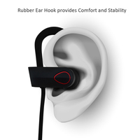 Long battery life wireless earpiece with mic for phone calls, Rambotech RU9 bluetooth headsets with ear hook USB micro bluetooth