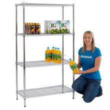 NSF approved heavy duty chrome wire shelving with castors