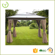 3*3m / 3*3.6m Hard roof top patio gazebo with mosquito net XY-CG-15016