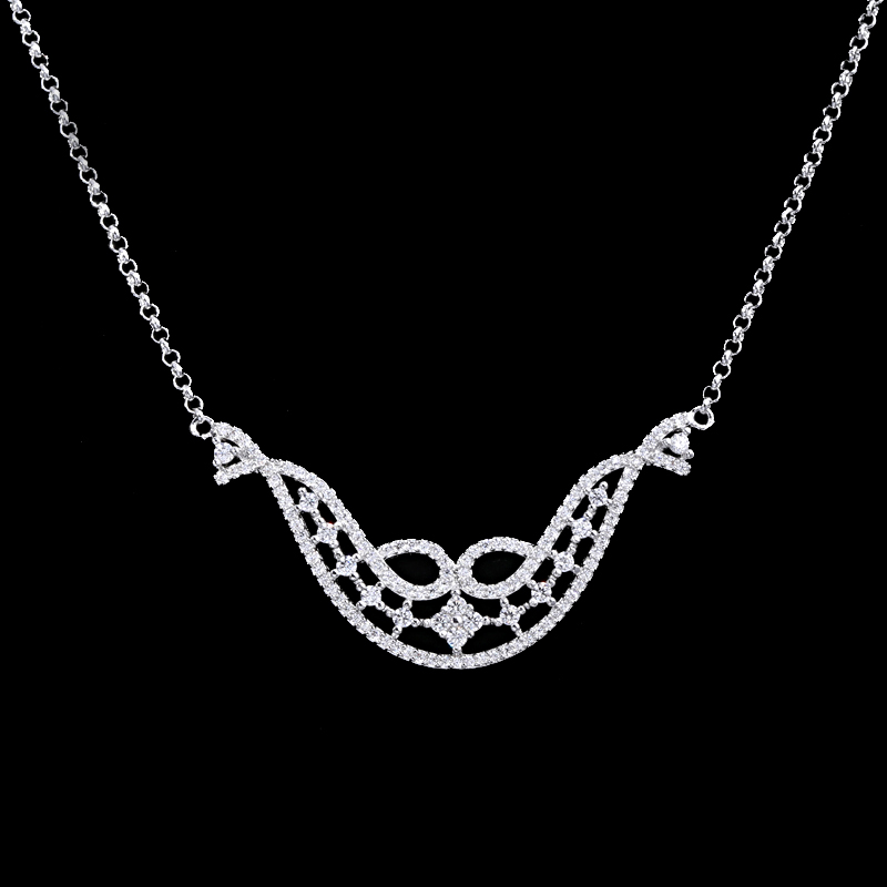 Custom price per gram silver jewelry 925 silver necklace