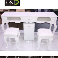 Fashional nail manicure table With double manicure table For cheap salon furniture
