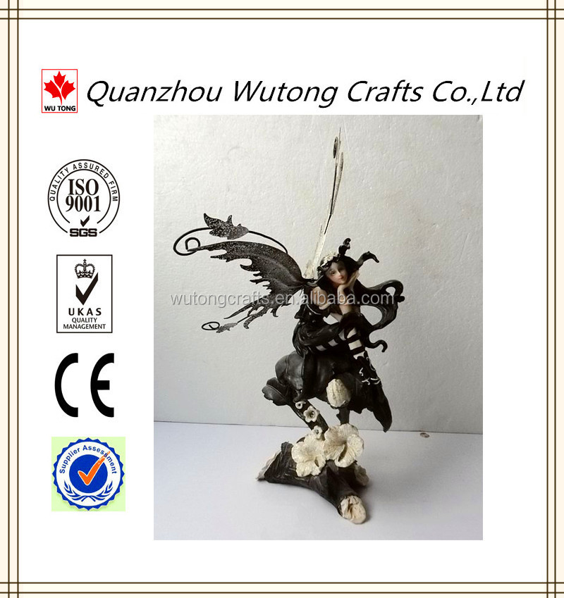 Polyester Resin Dark Angel With Wings Made In China