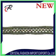 Hot selling polyester eyelet trim decorative lace trim sewing lace trim