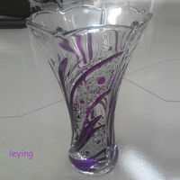 long stem martini glass vase manufacture/clear/colored