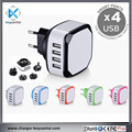 CE ROHS FCC SAA Certificatied 5V4.5A Replaceable Charger Plug 4 Port USB Wall Charger