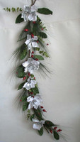 artificial flowers christmas wall hanging poppy decoration garland