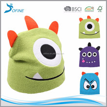 Cheap unique factory wholesale cute knitted animal funny kids winter hat