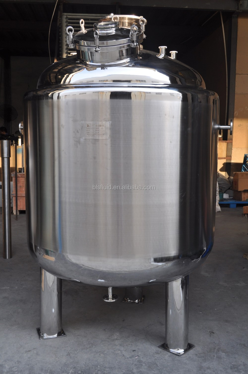 1000 litre stainless steel chemical acid storage tank