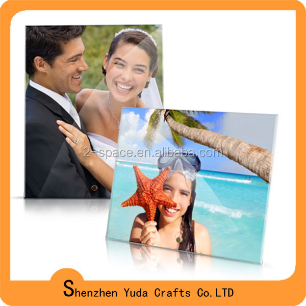 two sides paper holder acrylic clear photo frame wholesale magnetic card holder