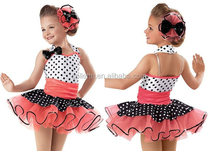 2016 New !! MB2016-4 Girl Cute Cheerful polka dot tutu dance costume dress