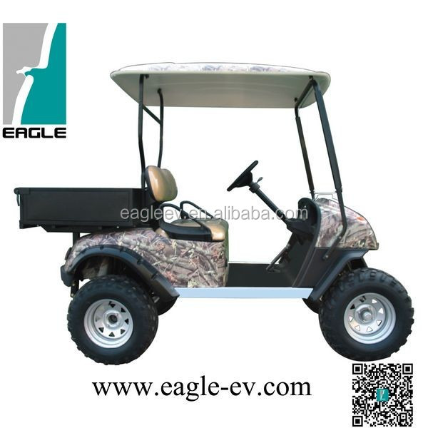 electric hunting buggy with cargo box, electric hunting vehicle with cargo box, two seats