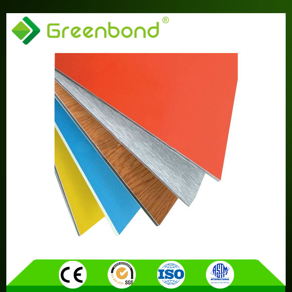 Greenbond bottom price garag door specification aluminum acp 4mm sheets with perfect quality