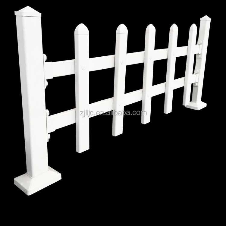 White cheap vinyl recycled PVC plastic garden fence panel
