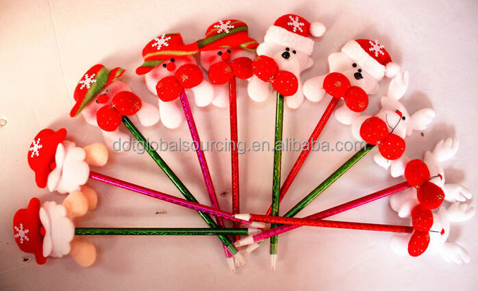 High Quality Fashion Lovely Christmas Ball Pen Cute Christmas Little Doll Pen for Christmas Gift