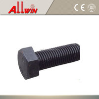 Square bolt black with square nut and washer