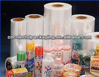 pvc heat shrink film with custom printed/clear heat shrink plastic film/roll for protect,saftguard,protection food