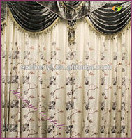 Pastoral styleluxury perfect design curtain with beautuful valance new arrival in 2013