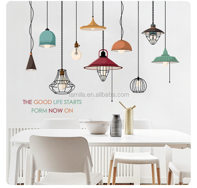 Pendant Drop light wall decals for kids children room living room home decorative wall stickers waterproof removable murals