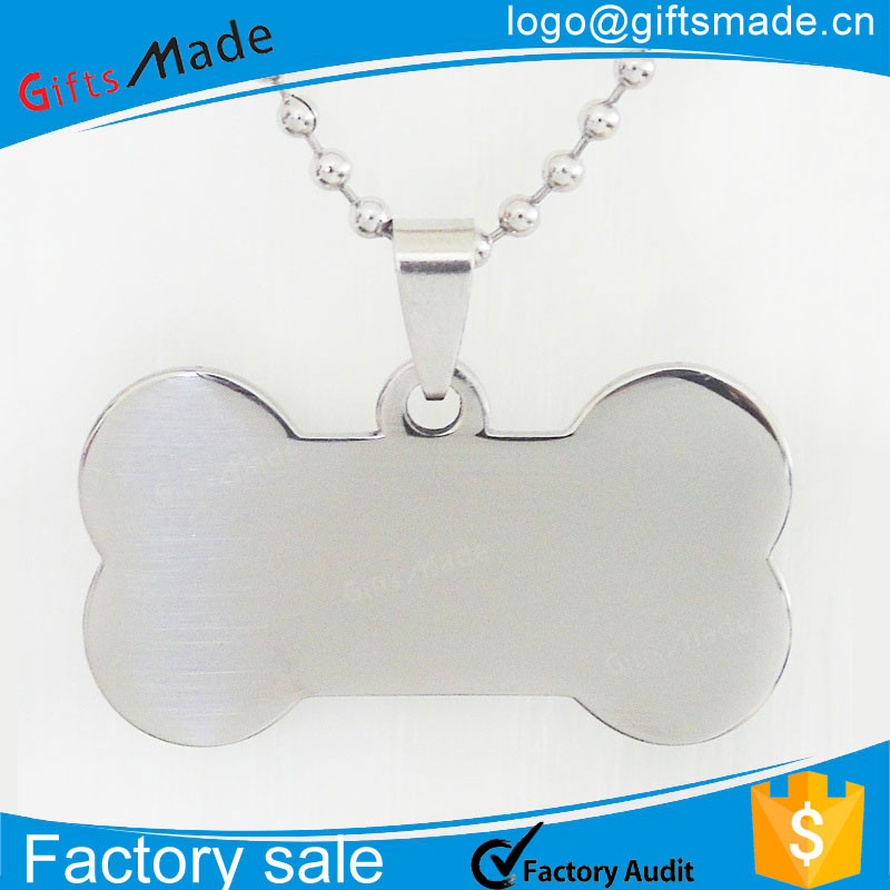 Stainless Steel Mirror Polished Custom Blank Dog Tag For Key Chain