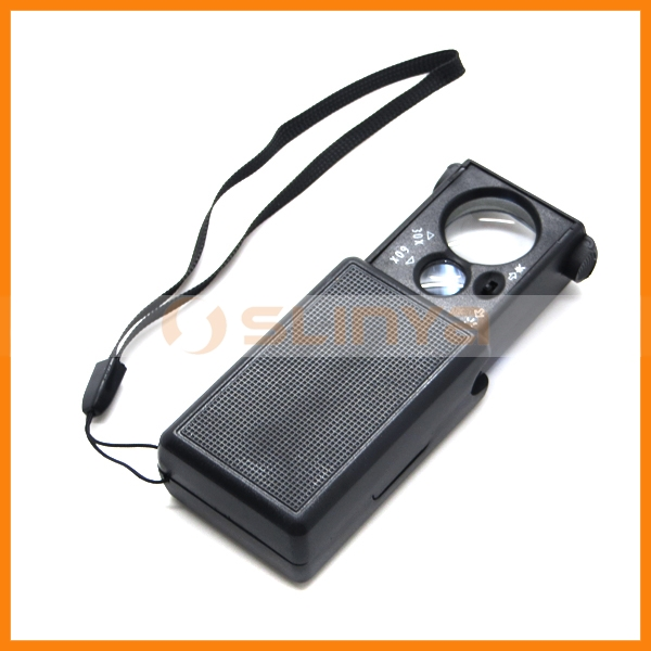 30x 60x LED UV Lighted Magnifier Mini Jewelers Loupe Loop Watch Repair Tool