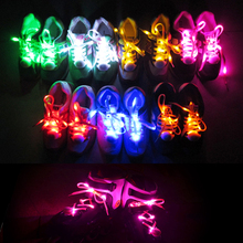 Party Skating Glowing Shoe Decor Light up Fashion LED Shoe Laces Strings for Boy and Girl Flash Cool Nylon LED Luminous Shoelace