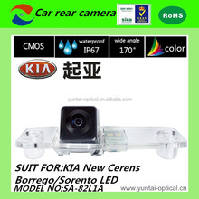 CE certification mini HD 170 degree waterproof car security camera for New cerens/Borrego/sorento LED
