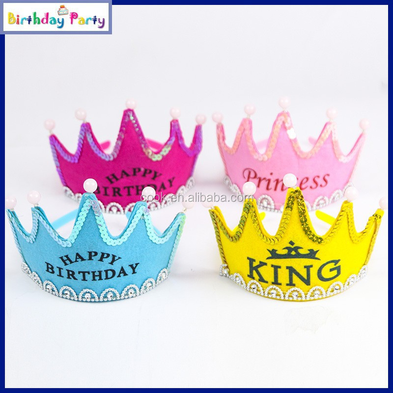 kids birthday flashing crowns party decorations party hat