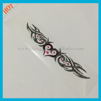 Lovely heart shape body crystal tattoo design