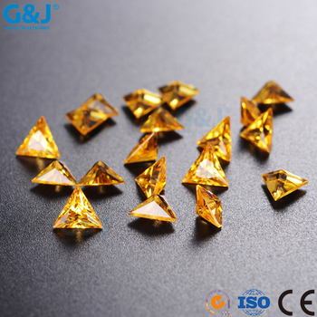 guojie brand yiwu factory production Hot Saling triangle Shape Factory For Dress Crystal Zirconia