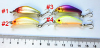 In stock 400pcs fishing tackle Classic Minnow 3.8CM 2.2G 10# one HOOKS Floating Fish Fishing Lure Crankbait
