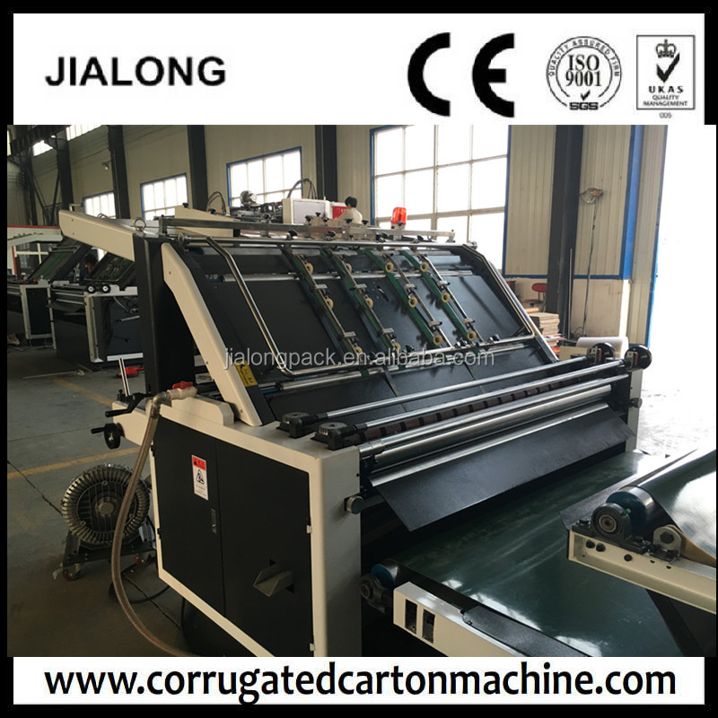 high quality cheap price Lift type Semi automatic flute Laminator Machine for corrugated paperboard