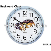 New Novelty Toy Inverted Time Car Photo Wall Run Backward Clock