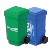 Promotional pu foam garbage can stress toy