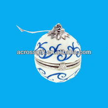 white and blue porcelain jewelry box