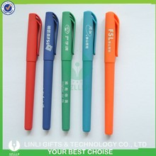Company's Promotion Gift Gel Ink Logo Print Rubber Gel Pen