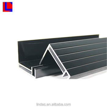 fixture block sliver anodized 6000 series extruded aluminium mounting solar panel