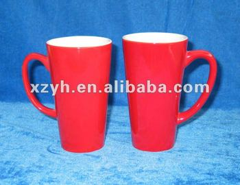 big red glazed ceramic mug EUR0004