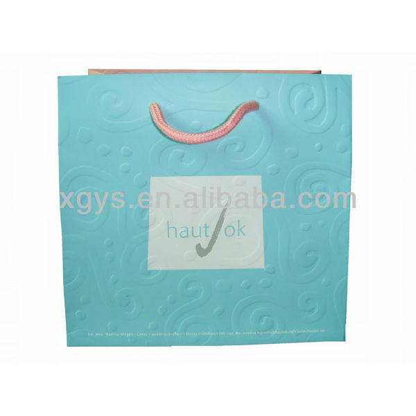 Luxury Shopping Bag Paper Bag Package For Cloth Factory (XG-PB-138)